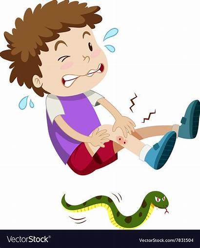 Snake Bitten Boy Clipart Serpente Clip Gebissen