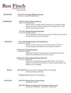 Draft Of Resume by Resume Draft Ben Finch Cdf