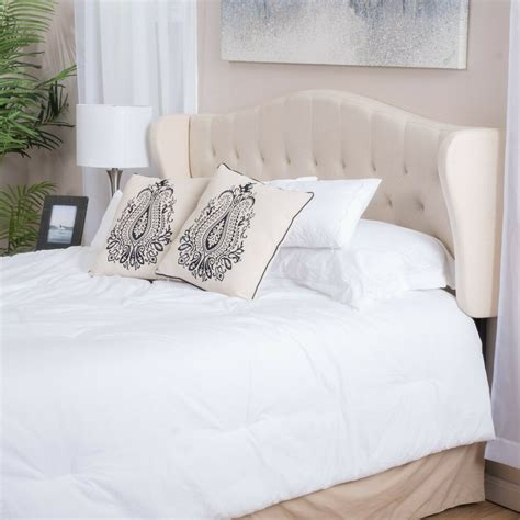 Fabric Headboard by Contemporary Adjustable Beige Fabric Headboard For