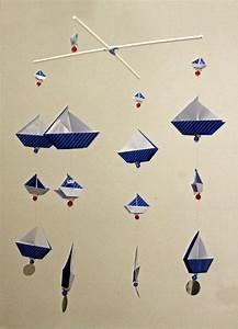 Origami Bateau à Voile : origami sail boats mobile on a cross hanger by ~ Dode.kayakingforconservation.com Idées de Décoration