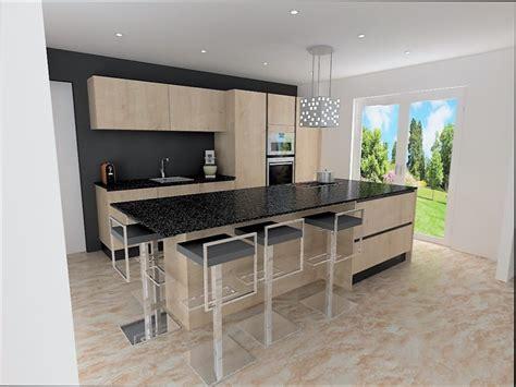 cuisine facade bois cuisine noir plan de travail bois photos de conception de maison elrup com