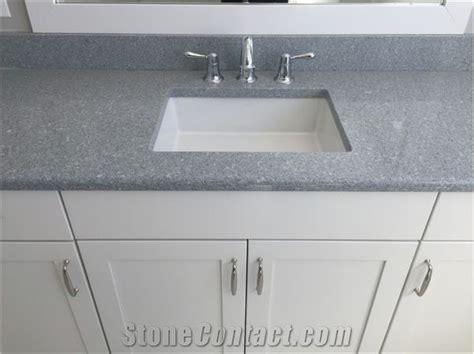 Sparkle Gray Quartz Stone Surfaces Bathroom Vanity Tops