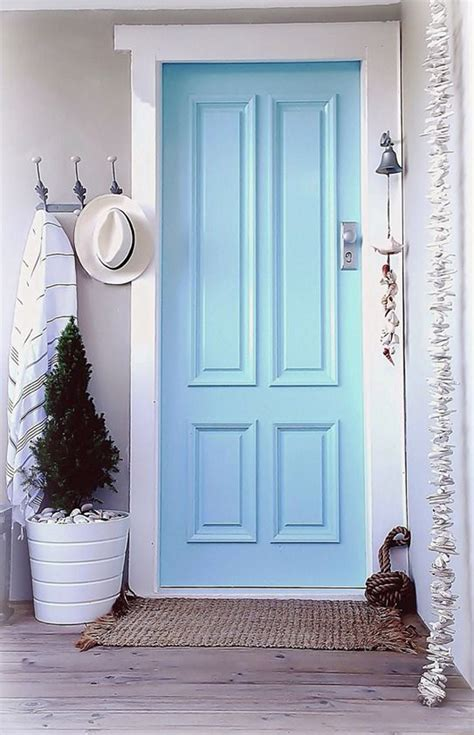 eclectic front doors  pastel colors homemydesign