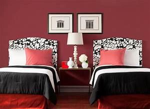 best chambre a coucher peinture rouge photos seiunkelus With peinture de chambre a coucher