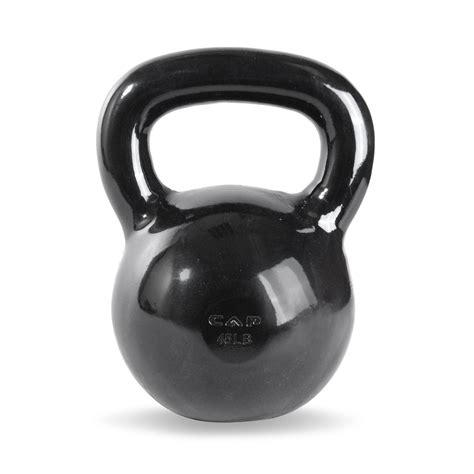 kettlebell iron cap cast enamel coated lb