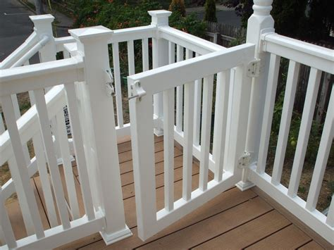outdoor gate for deck stairs sliding vinyl porch gate 7227