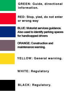 the color of a motorist service sign is florida driver s handbook 2000 edition chapter four