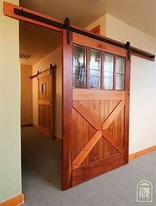 Hammered Barn Door Hardware Kit Flats Sliding Barn Door