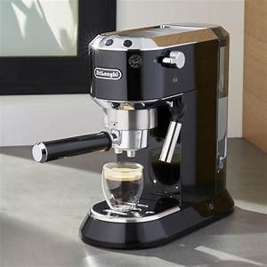 DeLonghi Dedica Slimline Black Espresso Maker Crate