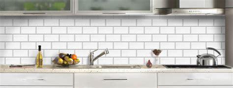 credence cuisine imitation carrelage credence cuisine verre decor carrelage metro blanc