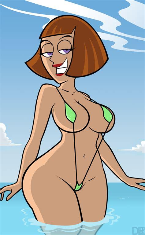 xbooru danny phantom grin madeline fenton milf sling bikini smile swimsuit 512506