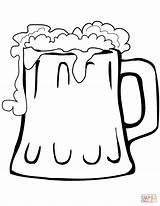 Beer Mug Coloring Pages Printable Paper Styles Vectors Drawing Crafts sketch template