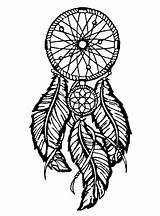 Feathers Dreamcatcher Coloring Dreamcatchers Print Pages Adult sketch template