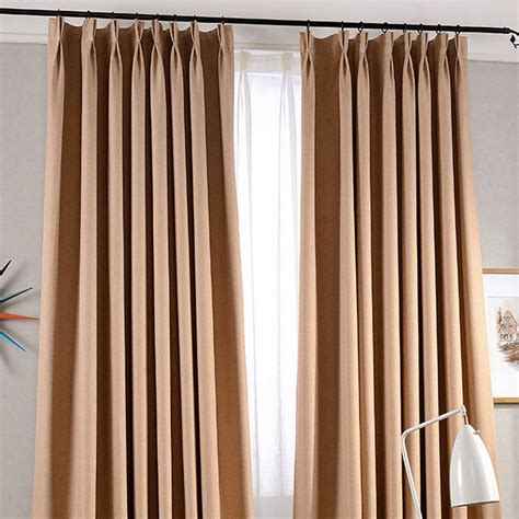 brief light brown and gray blackout modern curtains