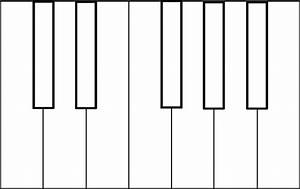Piano Keys Coloring Sheet Clip Art At Clker Com