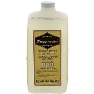 When baristas pump syrups, the mechanism does a really great job of control how much syrup you get. STARBUCKS Frappuccino Syrup Creme Flavored Syrup 63 oz no pump | eBay