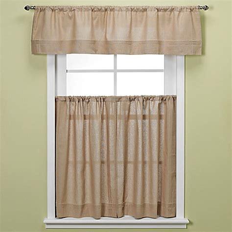 Maison Kitchen Window Curtain Tiers In Linen  Bed Bath