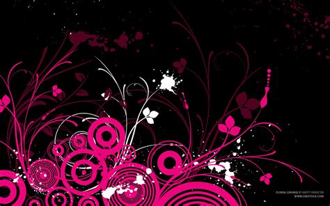 Widescreen Desktop Pink Art Wallpaper