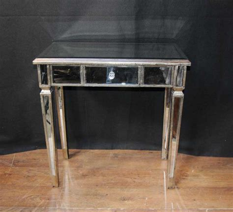 mirror tables pair deco mirror side tables mirrored occasional table