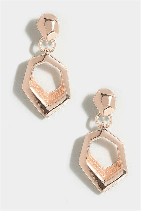 Boucles D'oreilles Dorées Géométriques