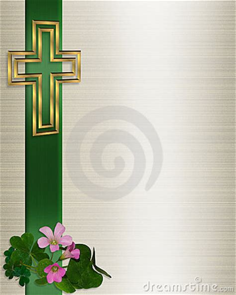 wedding invitation christian cross stock image image