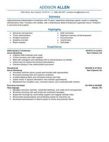 back office coordinator resume free resume templates education administration