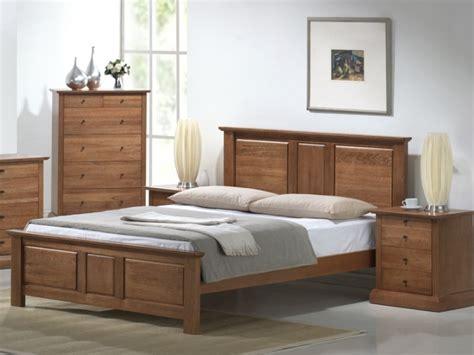 wooden bed frame cottage design sturdy   feel