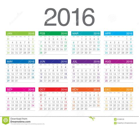 year calendar cartoon
