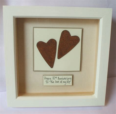 10th anniversary gift ideas rusty tin hearts 10th wedding anniversary gift keepsake gifts wedding and sodas