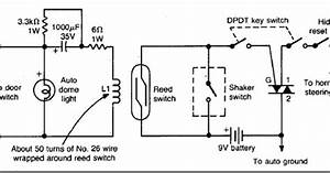 Diy Auto Burglary Alarm Circuit Diagram Using Reed Switch