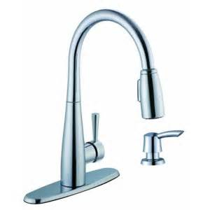 glacier bay 900 series single handle pull sprayer kitchen faucet with soap dispenser in