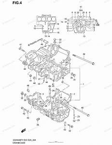 Suzuki Motorcycle 2003 Oem Parts Diagram For Crankcase