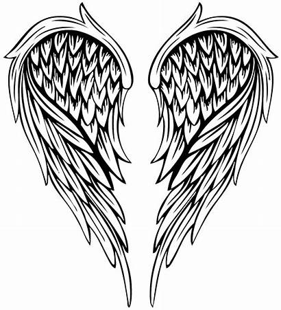 Wings Angel Drawing Tattoo Coloring Transparent Wing