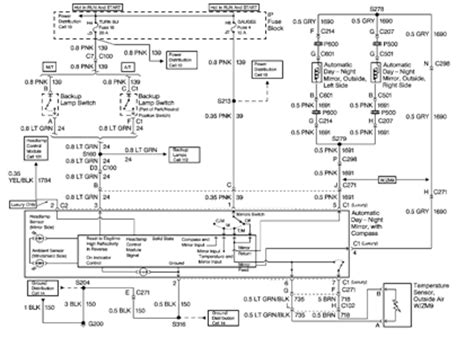 2012 Silverado Mirror Wiring Diagram by Solved Wiring Diagram For Automatic Mirrors On 1999 Tahoe