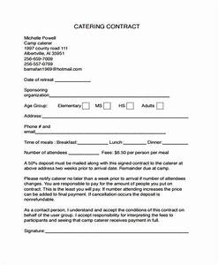 9 catering contract templates free sample example With catering contracts templates