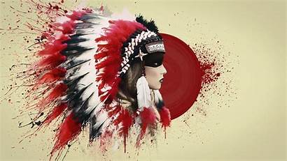 Indian Feathers Blood Wallpapers Native Roach Wallpaperaccess