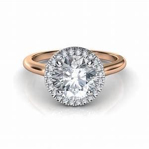 plain shank floating halo diamond engagement ring With plain engagement ring with diamond wedding band