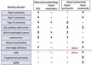 Advances In Management Of Esophageal Motility Disorders