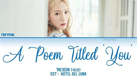taeyeon  poem titled  hotel del