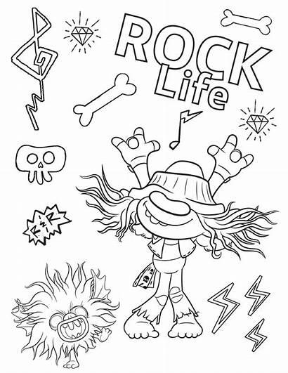 Trolls Coloring Rock Tour Printable Barb Coloriage