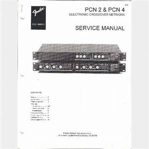 Fender Pcn 2 Pcn 4 Electronic Crossover Network Service