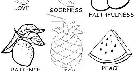 unique fruit   spirit color pages  preschoolers top  coloring pages  kids
