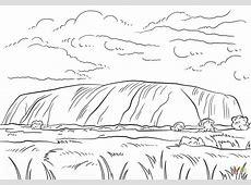 Uluru Ayers Rock coloring page Free Printable Coloring