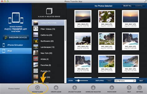 photo transfer app mac  pages backup entire albums