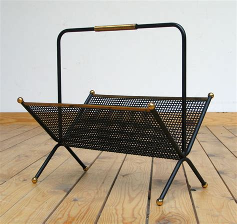 Marbro L 1950s Eames Era by 1950 Metal Magazine Rack Eames Era Furniture
