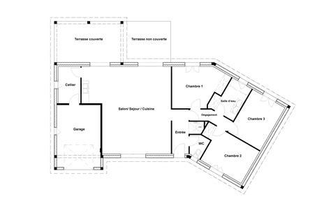plan maison plain pied 100m2 3 chambres plan de maison 100m2 3 chambres plan maison plein pieds