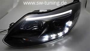 Ford Focus Mk3 Tuning : swdrltube scheinwerfer focus mk3 11 14 led tfl r87 black ~ Jslefanu.com Haus und Dekorationen