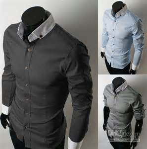 Black Fashion Men Dress Shirt