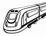 Coloring Tram Coloringcrew sketch template