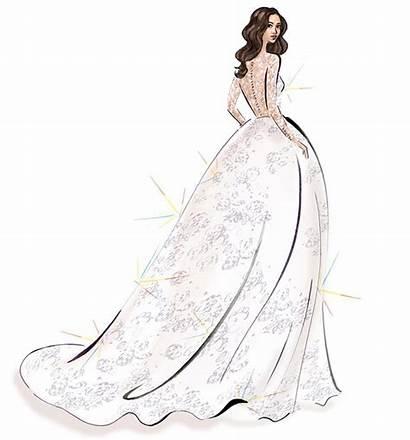 Markle Meghan Sketches Sketch Lace Veil Caroline